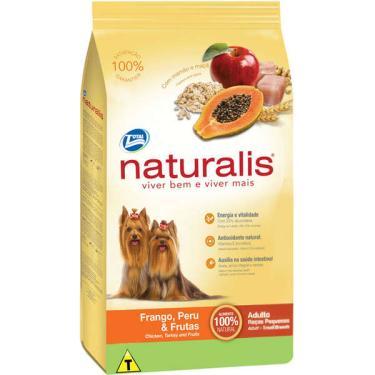 Ração Total Naturalis Frango, Peru e Frutas para Cães Adultos de Raças Pequenas - 15 Kg
