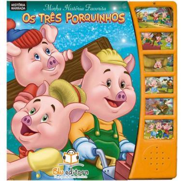 Imagem de Minha História Favorita: Os Três Porquinhos - Blu Editora - Dwinguler