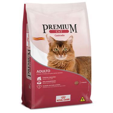 Ração Royal Canin Premium Cat para Gatos Adultos Castrados - 10,1 Kg
