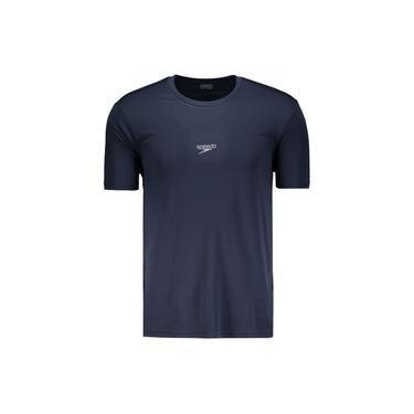 Camiseta Speedo Interlock Basic UV50 Marinho
