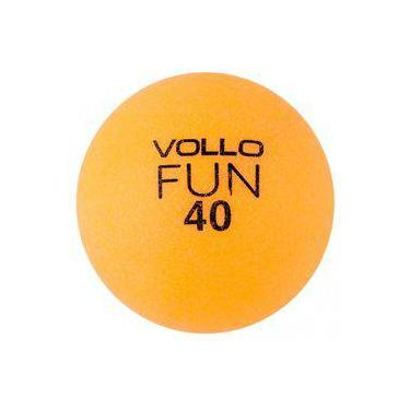 Bola Tênis de Mesa Vollo VT609 100 Unidades Laranja