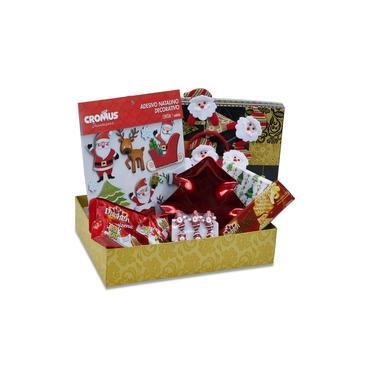 Imagem de Cesta de Natal Divertida Decoração Natal Chocolate 50 Itens