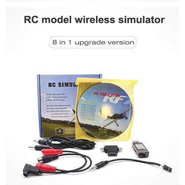 Goolsky STARTRC 8-em-1 RC simulador de vôo sem fio simulador para Flysky i6x FUTABA AT9s Radiolink AT10