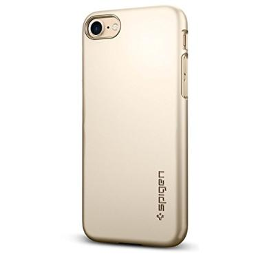 Spigen Capa Thin Fit Projectada para Apple iPhone SE (2020) / iPhone 8 / iPhone 7 - Champanhe Ouro