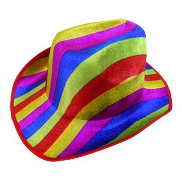 cc8538d2e1df0 Chapeu Cowboy Kit Com 3 Festa Carnaval Baile Fantasia Colorido (BSL-2544-9