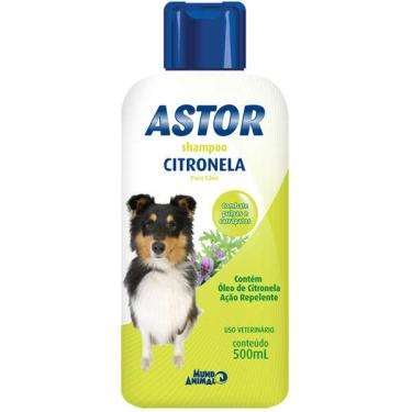 Shampoo Mundo Animal Astor Citronela para Cães - 500 mL
