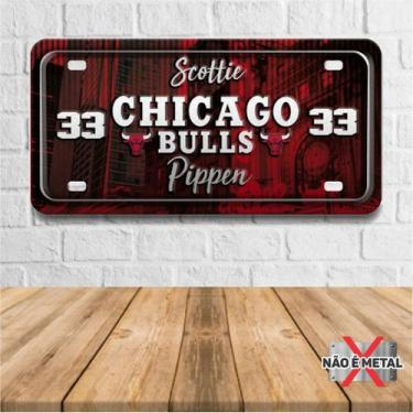 Imagem de Placa De Carro Decorativa Tema Nba -  Chicago Bulls Pippen Pdc-039 - P