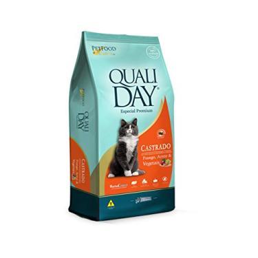 Ração Qualiday Cat Premium Sabor Frango para Gatos Adultos Castrados - 20kg