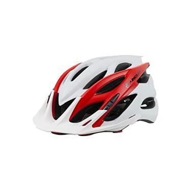 Imagem de Capacete Ciclismo Bike Absolute Wild Mia Viseira (Branco Vermelho (Fosco), Ajustável (58 ao 61) cm)