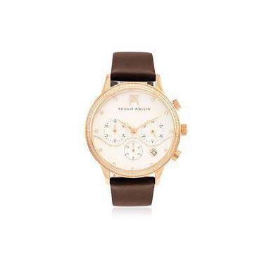 bc0cb916051 Relógio Feminino Phillip Kollin Santorini ZY28001Z Rose Brown