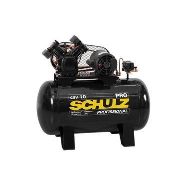 Compressor de ar 10 pés 100L 2 hp 140 lbs monofásico - Pro CSV10/100 - Schulz