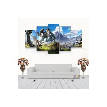 Quadro Decorativo Horizon Zero Dawn Game 115x60 5 Peças 5
