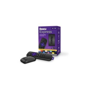 Roku Express - Streaming Player Full HD com Controle Remoto e Cabo HDMI Incluídos