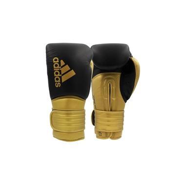 Luva de Boxe Muay Thai Adidas Hybrid 300 Preto/Dourado