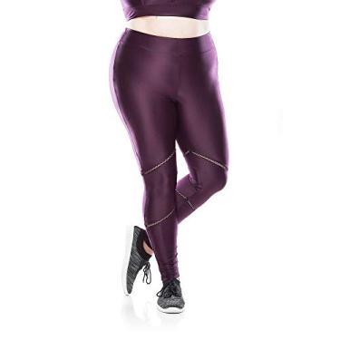 Calça Legging Fitness Plus Size Elástic Plus - Roxo Calça Legging Fitness Plus Size Elástic Plus - Roxo - Ps