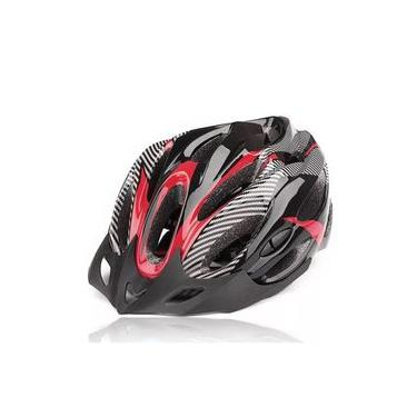 Capacete Para Ciclismo Bike Adulto Com Alça ajustável - Vermelho