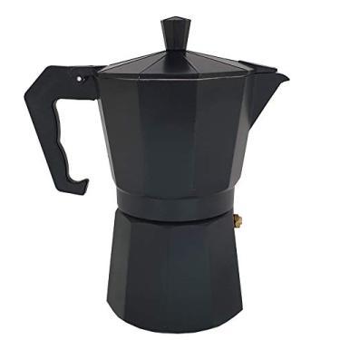 Imagem de Cafeteira de Fogão Moka Italiana De Alumínio até 6 Xícaras (Preto)