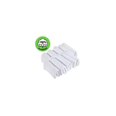 Imagem de Kit 10 Toalhas de Rosto Para Salão Beleza 100% Algodão 40 x 65 cm Branca