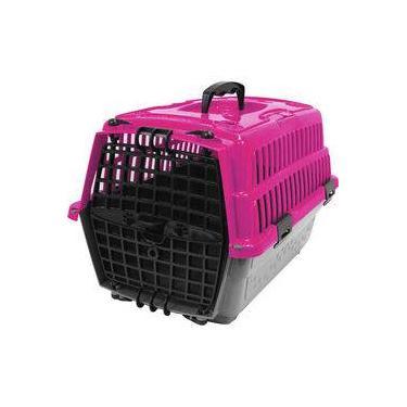 Caixa De Transporte Pet Injet Love Travel Rosa - Tam. 01