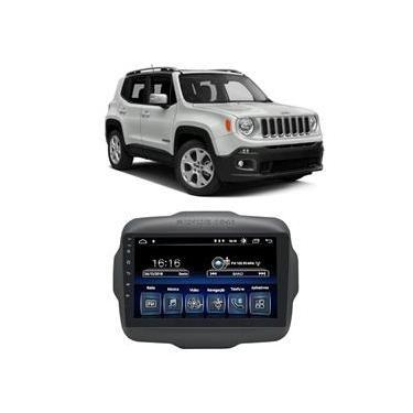 Central Multimídia Jeep Renegade Pcd 2015 A 2020 Caska 9 Polegadas Full Glass Big Screen Espelhamento Ios Android