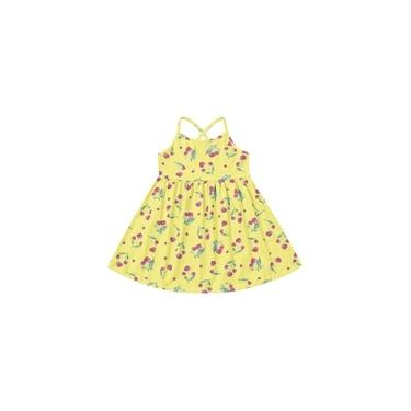 Vestido Infantil Amarelo/Cereja - Fakini For Fun