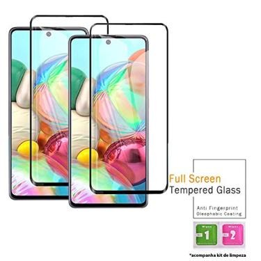 Kit 2x Películas Vidro 3D Samsung Galaxy A30 A50 A70 A51 A71 + Kit Aplicação (Galaxy A71)