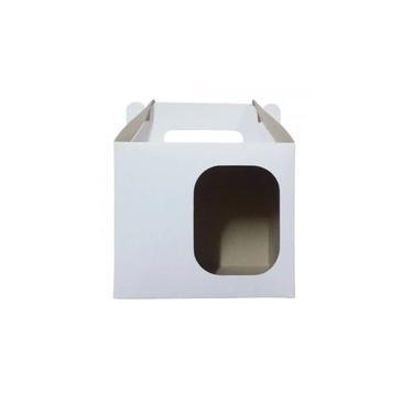 Caixa de Caneca Simples branca com janela