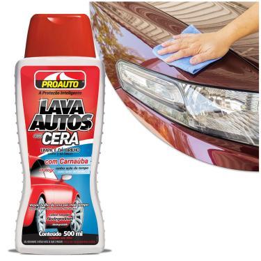 Shampoo Automotivo Lava Autos com Cera Carnaúba 500ml Proauto