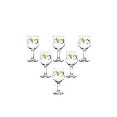 Conjunto 6 Taças Bistrô Para Água 300 Ml Em Vidro - Cisper - 16,1x8,1 Cm