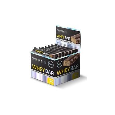 Barra de Proteína Whey Bar Sabor Chocolate Display com 24un de 40g - Probiotica