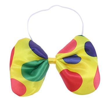 Imagem de NUOBESTY Gravata borboleta grande de bolinhas de circo para baile de máscaras, fantasia de palhaço para Halloween, Natal, carnaval, circo