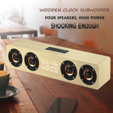 Imagem de Alto-falante soundbar para tv e pc, home theater com subwoofer, sem fio, bluetooth, despertador,