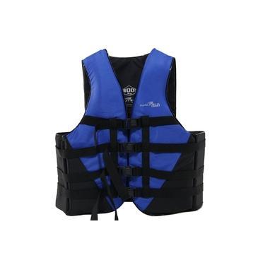 Colete Salva Vidas Nautika Coast Até 130kg Azul E Preto