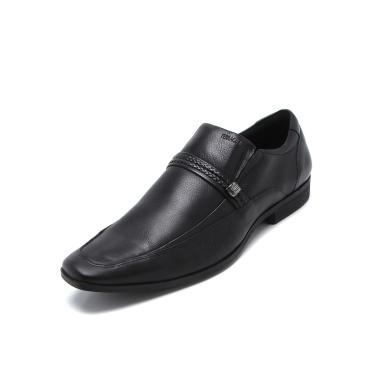 Sapato Social Couro Ferracini Fivela Preto Ferracini 4300-281G masculino