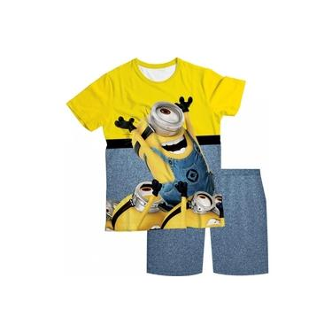 Pijama Infantil Minions Amarelo PJMC