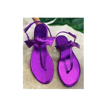 Rasteira Feminina de Dedo Laço Violeta
