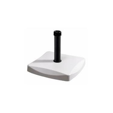 Base ombrellone em concreto quadrada 25kg branco - Bel Lazer -