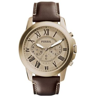 0033b41d8f2 Relógio Fossil Grant Cronógrafo Analógico Masculino FS5107 2DN