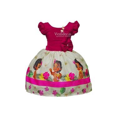 Vestido de festa infantil fantasia Moana baby