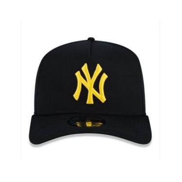 Boné New Era New York Yankees Mlb Preto E Amarelo