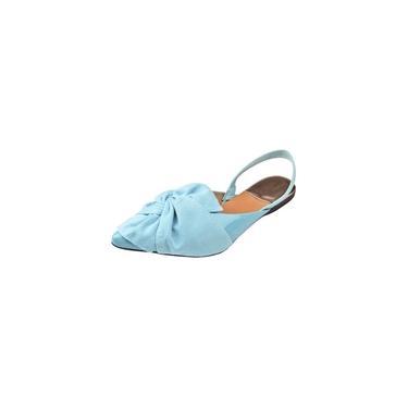 Sapatilha Verniz com Laço Azul bebê