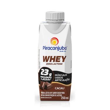 Piracanjuba Whey Zero Lactose Cacau Bebida Láctea com 250ml 250ml