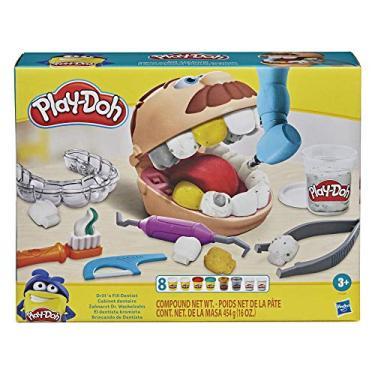 Imagem de Conjunto Massinha Play-Doh Brincando de Dentista, para crianças a partir dos 3 anos - F1259 - Hasbro