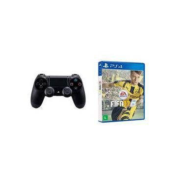 Controle Ps4 Playstation 4 Dualshock E Jogo Fifa 17 Mídia Fisica
