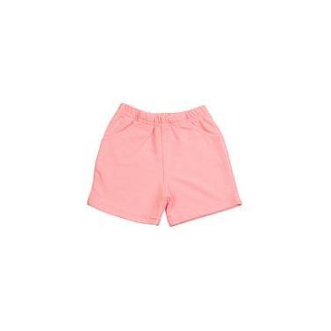 Shorts Bebê Malha Sarja Menina - Rosa
