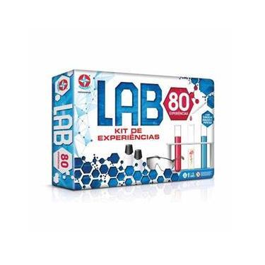 Jogo de Experiências Lab 80 Experiências Estrela Estrela
