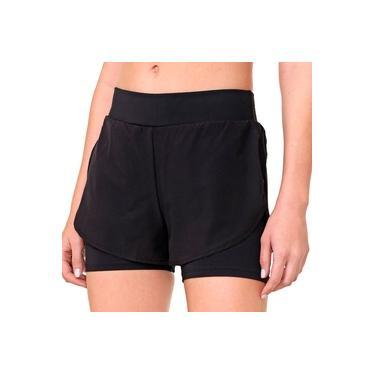 Shorts Duplo Feminino Fila Free Function