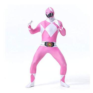 Imagem de Fantasia Zuunky Compatível com Fantasia Cosplay Power Rangers Coloridos Festa Segunda Pele (Rosa, P)