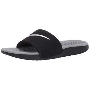Imagem de Nike Unisex-Kid's Kawa Slide (GS/PS) Sandal, Black/Metallic Silver-Particle Grey, 1Y Youth US Little Kid