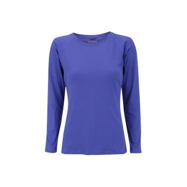 Camiseta Manga Longa com Proteção Solar UV50+ Oxer Custom - Feminina - ROXO  Oxer 0cb9d45a07876